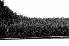 Black artificial turf