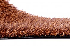 Brown artificial turf