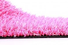 Pink artificial turf