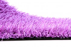 Purple artificial turf