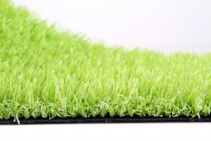 Lime green artificial turf