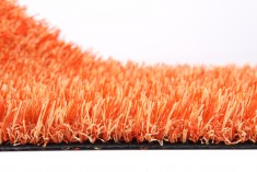 Orange artificial turf