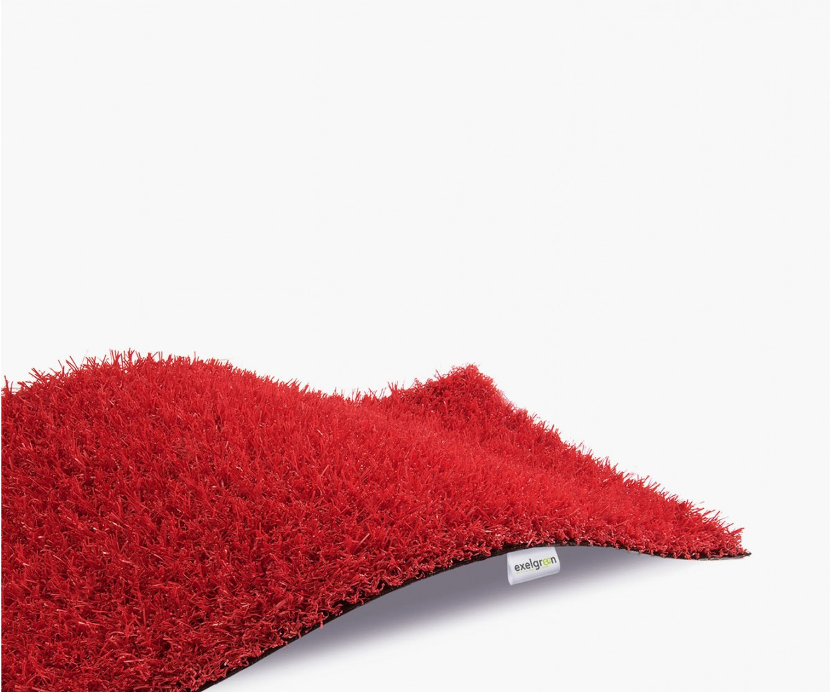 Gazon Synthétique Décoration Rouge